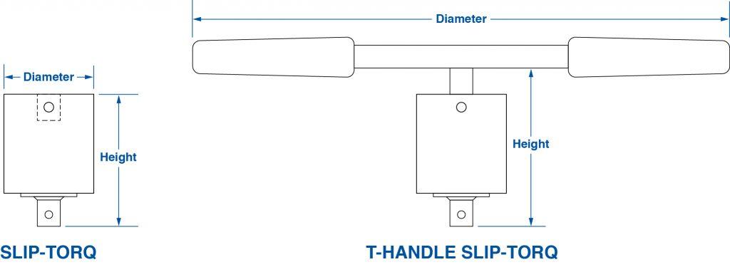 Slip-Torq Dimensions